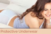 """Protective Underwear / Do you have those """"period pants"""" that remind you of Bridget Jones' big knickers? Throw those away and enjoy the perfect protective underwear that look and feel like your favourite underwear. Our underwear isn't just for periods no-no, they can be used for women who have weak pelvic floors or post maternity. For any woman who suffers a leak here and there! With hidden protection embedded, no one will ever guess that THESE were your period panties."""