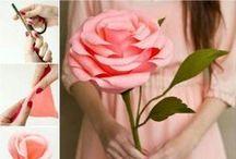 Kwiaty papier i bibuła