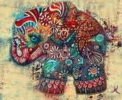 Elephants art