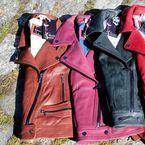 ROSE GARDEN SS17 / Collection printemps/été 2017 de la marque Rose Garden, spécialiste de la mode cuir pour femme.  Perfecto, veste col motard