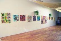 Exhibits of Work / Pictures of exhibits of Cassandra Tondro's artwork.