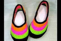 Crochet & Knit Boots, shoes, etc. / Knit, crochet, felt... all techniques to make them / by Karena Kam