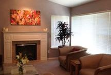 Art Installations / My paintings in their new homes!