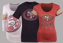 NFL Fan Style | 49ers / Locker Room by LIDS has the best selection of NFL apparel, headwear and novelty products. Don't limit your team spirit to gameday - Support the San Francisco 49ers in your everyday looks! Shop at www.LIDS.com. / by Locker Room by LIDS