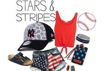 4th of July Fan Fashion / All of your needs for your 4th of July parties and still support your favorite team.