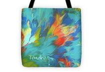 """Tote Bags / Designer tote bags featuring images of my art are available in three sizes ranging from 13"""" x 13"""" up to 18"""" x 18"""". They are made of soft, durable polyester poplin fabric with a one-inch black strap. The artwork is printed on both sides of the bag."""
