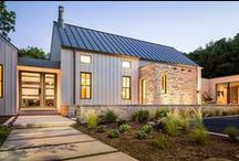 Inspiration | Farmhouse + Barnhouse / Kelly and I both love farmhouses and the richness of combining the clean and modern with the warm vernacular style.