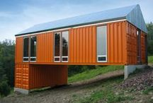 Inspiration | Shipping Container Houses / Kelly, the Queen of Container Homes, is waiting the day her and her husband can move into one of these unique constructions. She is at command central watching for the latest in this trend. Follow along. While I, Troy, am designing for lil' ole me using three 20' containers. Enjoy!