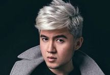 Silver Hair Color / Photos of cool silver hair color for a spectacular men's hairstyle.