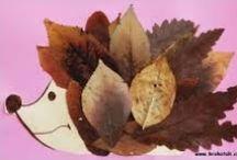herfst-speurtocht-knutsel-feestje / nodig: stevig papier voor boom / uil. Voldoende lijm. Voldoende stiften.