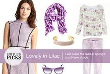 Trend We Love: Lilac / Lilac takes the lead as spring's must-have shade!