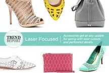 Trend We Love: Laser Cutouts / Accessories get an airy update for spring with laser cutouts and perforated details.