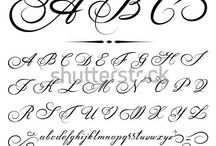 Handlettering/calligraphy Fonts