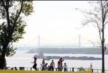 Parques de Rosario / Como ámbitos ideales para recorrer a pie o en bicicleta, los parques rosarinos son parte ineludible de los paseos por la ciudad. Junto a sitios emblemáticos como el Parque Independencia, se destacan los balcones al río de toda la ribera central.