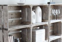 Bookcases, Shelving & Hooks / Also see all my DIY Decor, Crafting, Card and Scrapbooking Boards.  / by Virginia Parks