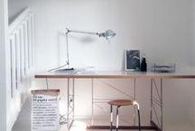 Travailler à la maison / Inspiration pour aménager et éclairer votre espace de travail à la maison
