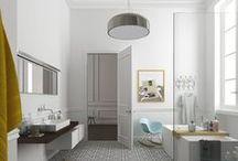 Dans la salle de bain / Inspiration pour créer, aménager et éclairer votre salle de bain