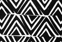 black & white pattern party! / a growing collection of inspiring monochromatic patterns and prints...