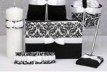 Wedding Accessories / Our coordinating wedding sets and bridal accessories are an elegant necessity for all weddings. We have matching wedding guest books, wedding photo albums, bridal money bags, ring bearer pillows, wedding cake servers, bride and groom champagne toasting glasses, flower girl baskets and more.