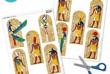 School Project Printables / Printable kits for school projects. Make fast and easy posters for Ancient Egypt Projects, Science Fairs, State Reports, California Missions Projects, Civil War Reports and more!