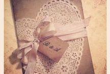 Rustic wedding, lace and burlap / Propozycje na ślub i wesele w stylu rustykalnym z motywami koronki i lnu