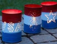 Fourth of July crafts, decor & more! / Everything you need to celebrate the birthday of our country!  Crafts, decorating ideas, DIY projects and food!