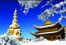Chengdu Emei Mountain Sightseeing Photos / a group of sightseeing photos with different travel significance about Emei Mountain, Chengdu - http://www.absolutechinatours.com/Chengdu-attractions/Emei-Mountain-3143.html