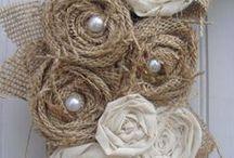 Wreaths inspirations / Piękne wianki, głównie lniane w stylu rustykalnym i vintage