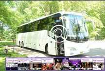 (NJ) PARTY BUS RENTAL (50 Passenger) / #partybus #njpartybus 50 Passenger Party Bus (NJ) We offer a complete line of Limousine Party Buses. Equipped with a Stand Up Bar 2 Vizio Big Screen TV's and 2 additional front pillar TV's, 2 mini bars, AM/FM/CD, DVD player, I-Pod connection, Karaoke System, strobes, laser lights, fiber optic lighting, wood flooring, Nine Emergency Egress exists, complete underbelly storage, Direct TV   #partybus #njpartybus   TRULIMO.COM Tel: 908.523.1700