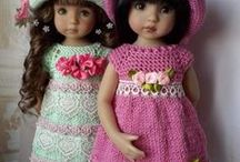 Crochet and knitting clothes for dolls