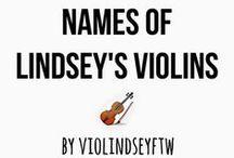 Lindsey's violins