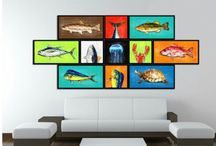 """Fish Art, Home Decor, Gift Ideas / SpotColorArt.com * We Have Over 20,000 NEW Art Design in 2016 Beautiful Home Decor Art & Gift Ideas for Everyone. """"New"""" Trends, Inspirational Quotes, Motivational, Funny, Typo, Photo, Folk Art and MORE. Hand Made in USA. Update your home décor with stylish, Framed Art, Custom Made Canvas Art! They come available in an incredible range of vibrant colors, sizes and designs to choose from! """"NOW"""" On SALE Start $19.99 -"""