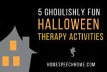 Speech Therapy Halloween / Therapy activities for October.