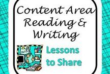 Reading & Writing in the Content Areas / Activities and lessons that will help all secondary teachers incorporate more reading and writing into their classrooms.