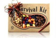 Survival Kits / Our survival kits come with 3 different nuts and mixes. Here are some of our popular sellers, but you can also customize with any combination that you like!