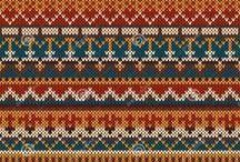 Схемы узоров / Схемы, которые можно использовать для ручного и машинного вязания, а так же для счетной вышивки.