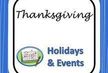 Thanksgiving / Reading and Writing Activities about Thanksgiving for Middle and High School Teachers
