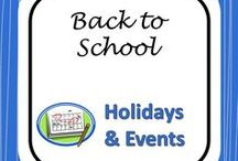 Back to School / Resources and Ideas for Starting the Year Smoothly
