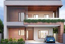 Contemporary 2 Storey  Houses
