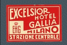 Vintage Luggage Stickers / This is my father's old collection of vintage hotel stickers. In the late '60s he collected more than 100 stickers with delightful design, so I want to preserve them and show to wider range of graphic design fans.