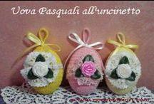 Fiori e uova per la Pasqua ... all'uncinetto / Le mie uova pasquali realizzate all'uncinetto www.nonsolofiori.com