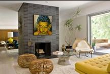 Buddha Paintings in Modern Interior / Transform Your Home into a Beautiful Haven with Beautiful Buddha Paintings http://amritaart.com/art-gallery/categories/buddha-oil-paintings/