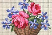 broderies de fleurs