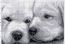 broderies de chiens