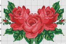broderie de roses