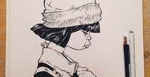 KONSTig inspiration / teckningar, bilder och annan konst