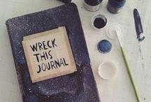Wreck this journal / idéer och tips på hur du kan wrecka din egen  journal