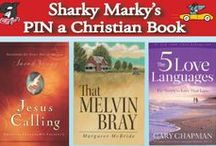 "Pin a Christian Book / Pin a Christian Book. Christian Book Pinning ONLY. You may pin as much as you please. I check often, but please let me know if a pin breaks the rules so I can remove it. Thanks and God bless! Lance Olsen pinterest@sharkymarkybook  ""Where inspiration, education and kindness collide with an undersea rip-roaring car racing adventure."" Sharky Marky picturebook series ages: 3-7  Sharky Marky and the Big Race and Sharky Marky and the Scavenger Hunt: an alphabetic adventure"