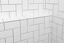 - Bathroom - / Inspiration salles de bains Design Zelliges Minimalisme Carrelage blanc  Bathroom
