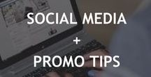 Social media + promo tips for bloggers / Tips for using social media - Twitter, Facebook, Instagram, LinkedIn, YouTube and other - to promote your blog and teaching business